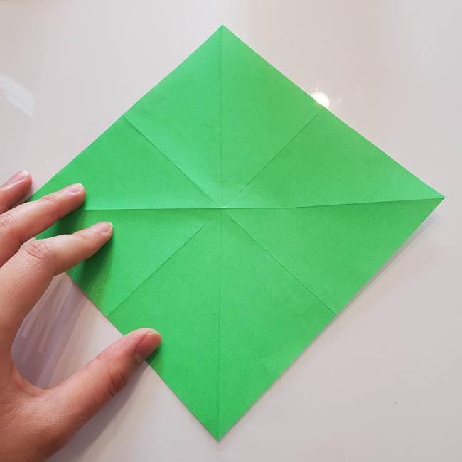菊の折り紙 1枚で簡単にできる作り方折り方(10)