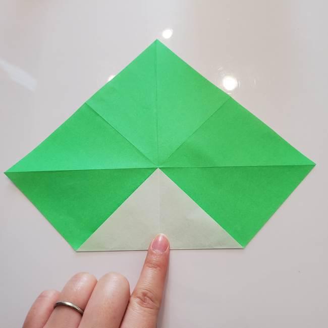 菊の折り紙 1枚で簡単にできる作り方折り方(11)