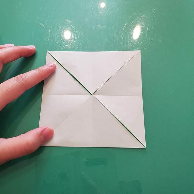 菊の折り紙 1枚で簡単にできる作り方折り方(12)