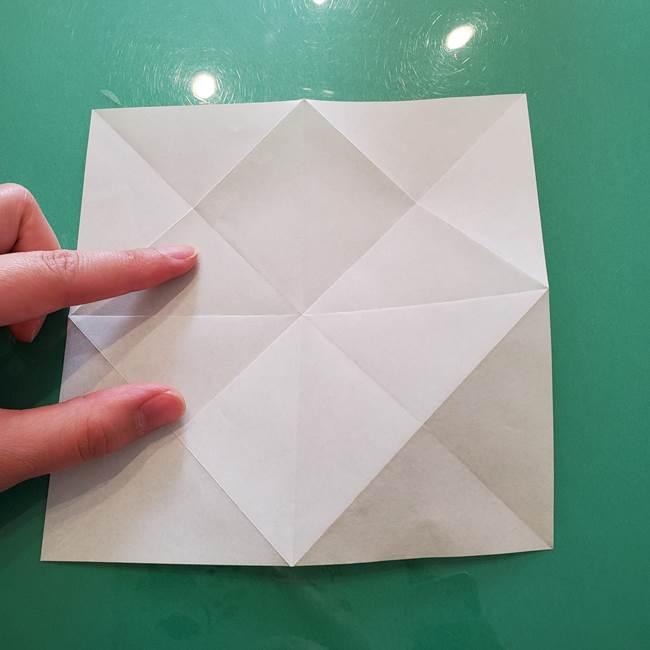 菊の折り紙 1枚で簡単にできる作り方折り方(14)