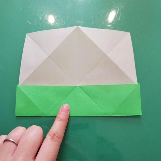 菊の折り紙 1枚で簡単にできる作り方折り方(15)