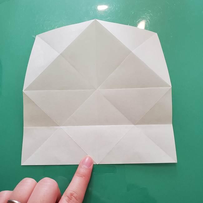 菊の折り紙 1枚で簡単にできる作り方折り方(16)