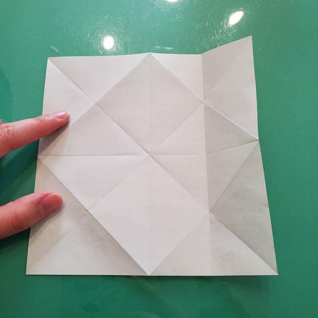 菊の折り紙 1枚で簡単にできる作り方折り方(17)