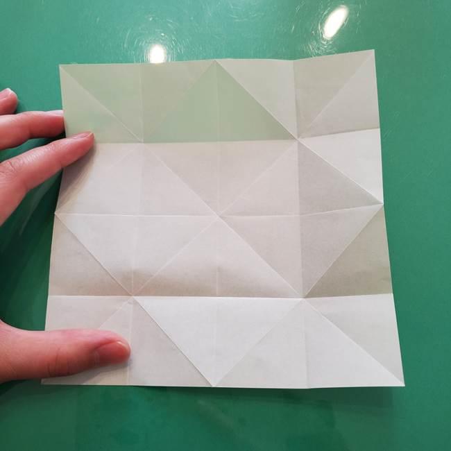 菊の折り紙 1枚で簡単にできる作り方折り方(18)