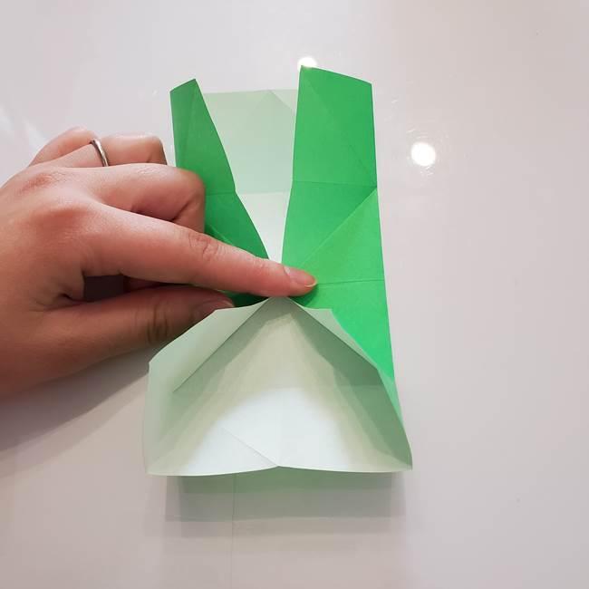 菊の折り紙 1枚で簡単にできる作り方折り方(19)