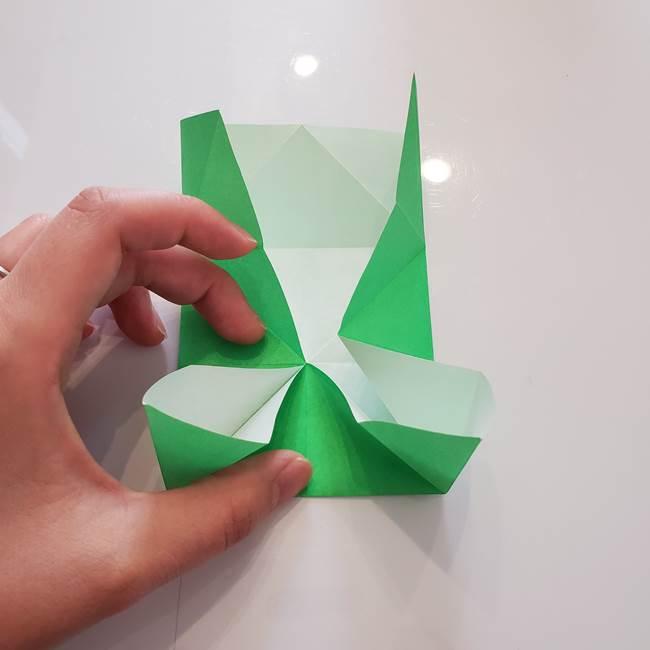 菊の折り紙 1枚で簡単にできる作り方折り方(20)