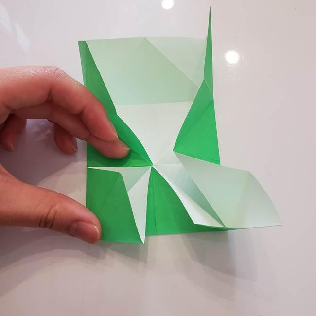 菊の折り紙 1枚で簡単にできる作り方折り方(21)