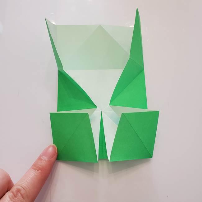 菊の折り紙 1枚で簡単にできる作り方折り方(22)