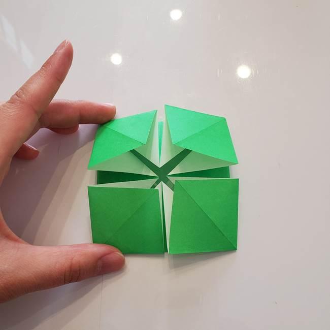 菊の折り紙 1枚で簡単にできる作り方折り方(23)