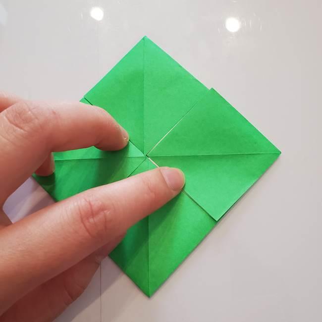 菊の折り紙 1枚で簡単にできる作り方折り方(24)