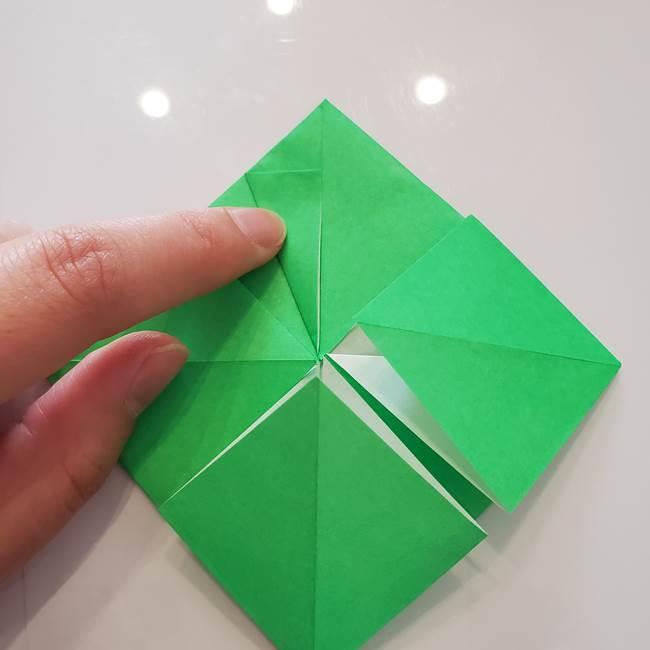 菊の折り紙 1枚で簡単にできる作り方折り方(25)