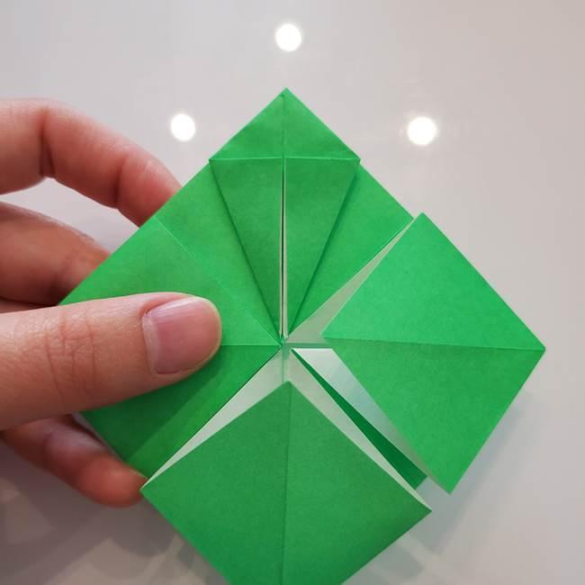 菊の折り紙 1枚で簡単にできる作り方折り方(26)