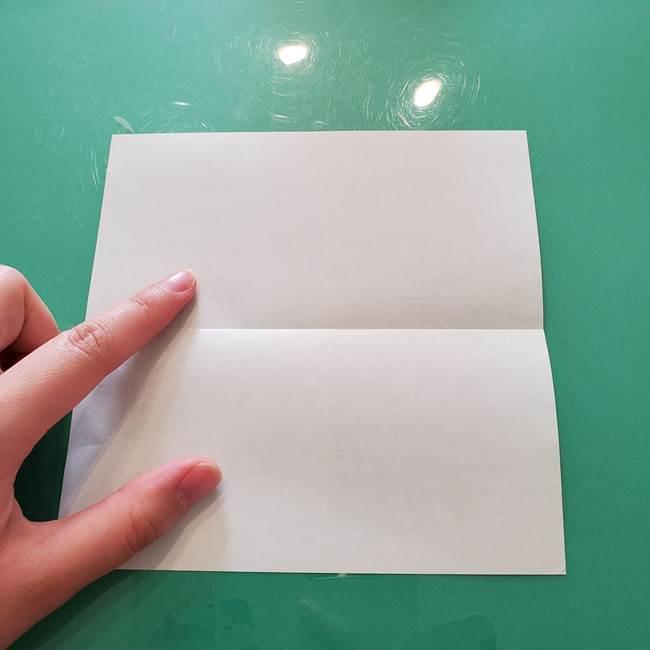 菊の折り紙 1枚で簡単にできる作り方折り方(3)