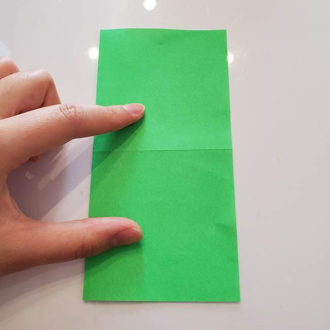 菊の折り紙 1枚で簡単にできる作り方折り方(4)