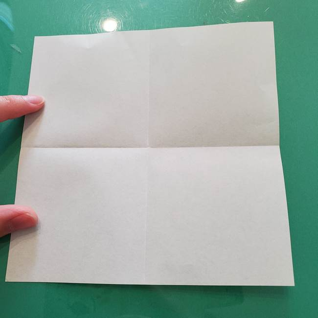 菊の折り紙 1枚で簡単にできる作り方折り方(5)