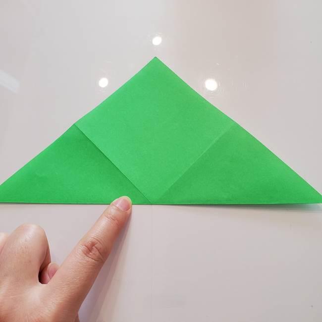 菊の折り紙 1枚で簡単にできる作り方折り方(6)