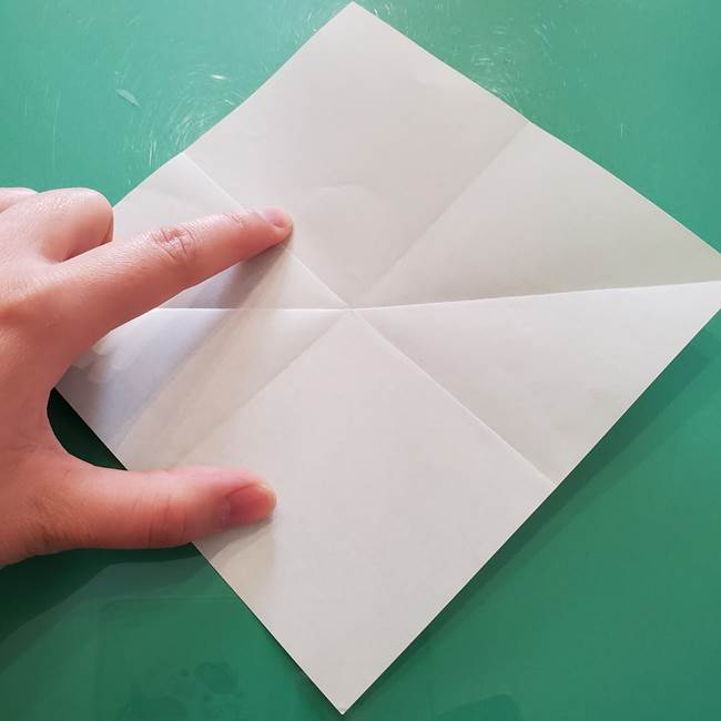菊の折り紙 1枚で簡単にできる作り方折り方(7)