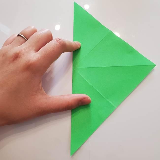 菊の折り紙 1枚で簡単にできる作り方折り方(8)