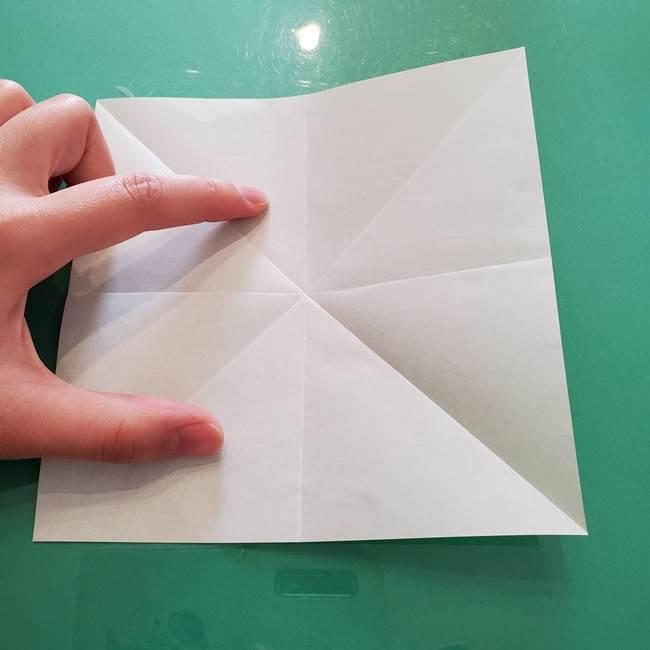 菊の折り紙 1枚で簡単にできる作り方折り方(9)