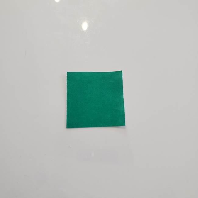 11月の折り紙 柿の壁面フレームの作り方②柿の葉っぱの折り紙(1)