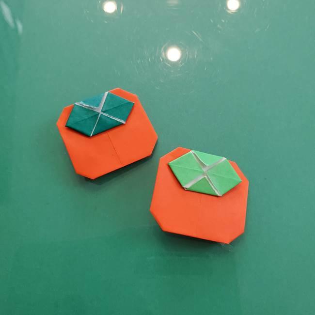 11月の折り紙 柿の壁面フレームの作り方④完成(1)