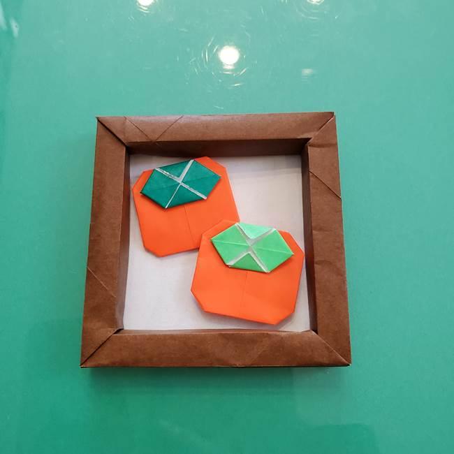 11月の折り紙 柿の壁面フレームの作り方④完成(4)