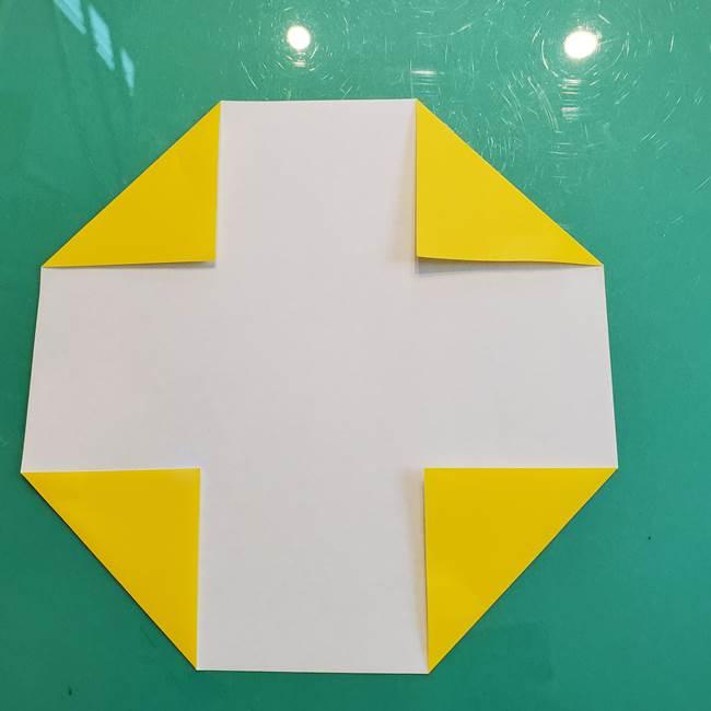 ①満月の折り紙の折り方(3)