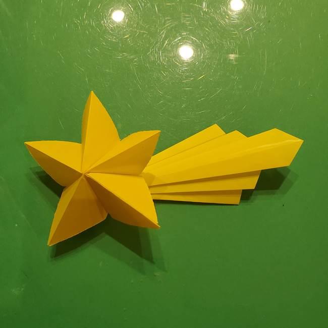 ③パーツを止めたら折り紙の流れ星の完成!(5)