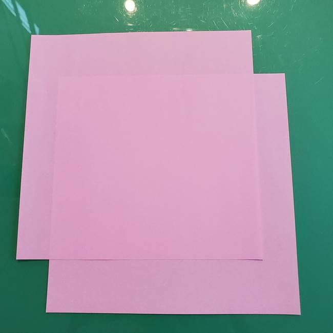 うさぎの折り紙を簡単に幼稚園年長さんと作ったよ!1