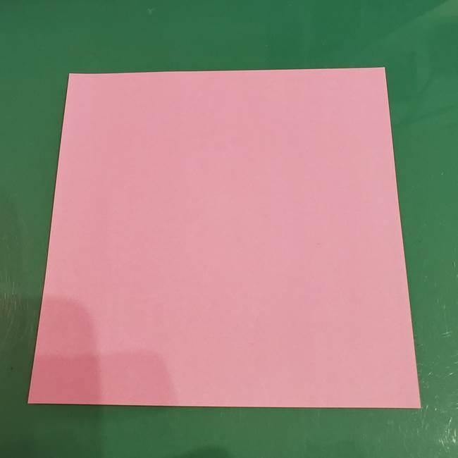 うさぎの折り紙 簡単で幼稚園年長からOK!折り方作り方①顔(1)
