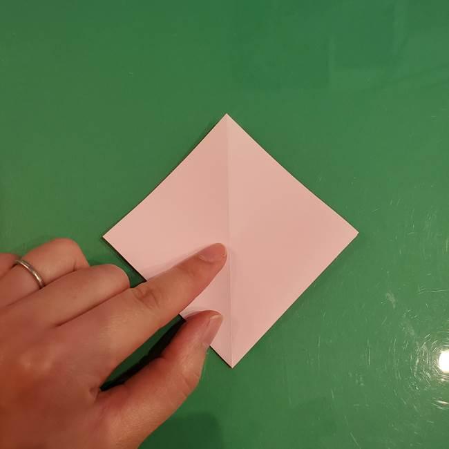うさぎの折り紙 簡単で幼稚園年長からOK!折り方作り方①顔(10)