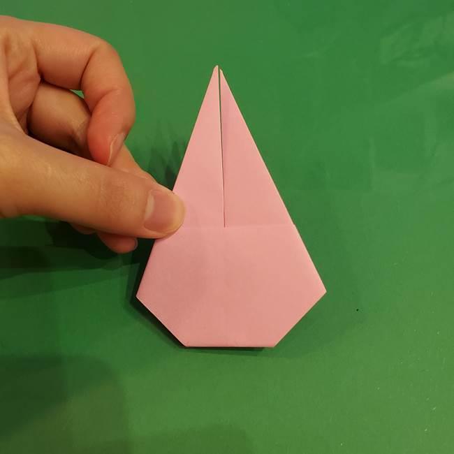 うさぎの折り紙 簡単で幼稚園年長からOK!折り方作り方①顔(14)