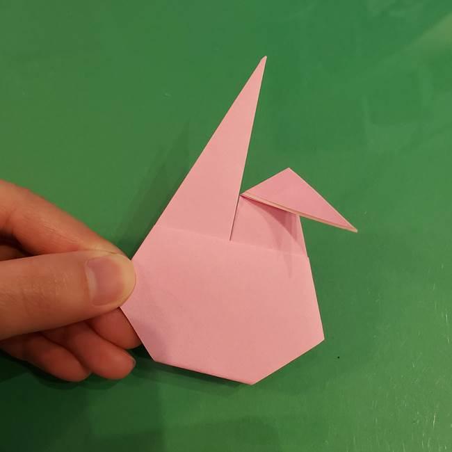 うさぎの折り紙 簡単で幼稚園年長からOK!折り方作り方①顔(15)