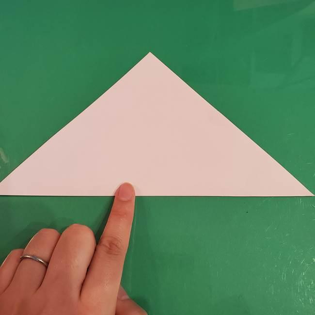 うさぎの折り紙 簡単で幼稚園年長からOK!折り方作り方①顔(3)
