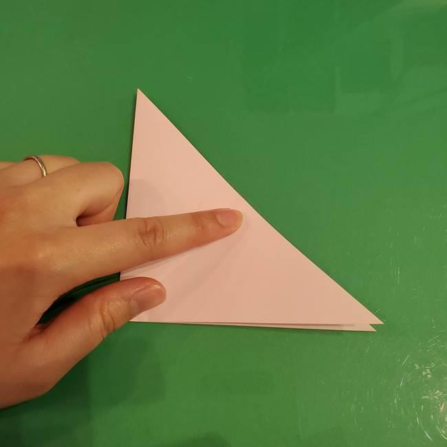 うさぎの折り紙 簡単で幼稚園年長からOK!折り方作り方①顔(4)
