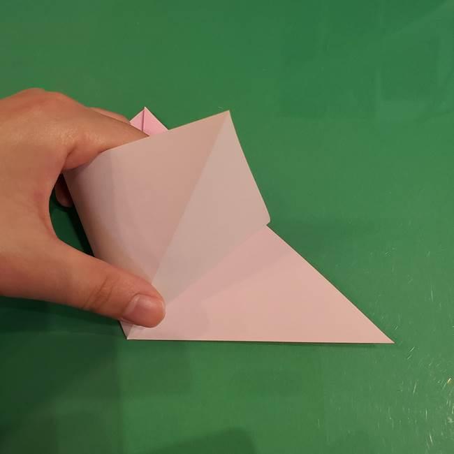 うさぎの折り紙 簡単で幼稚園年長からOK!折り方作り方①顔(5)