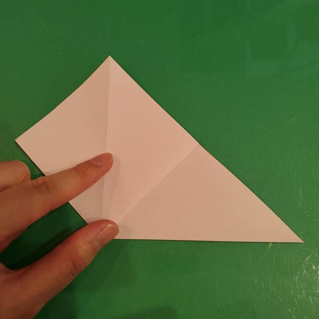 うさぎの折り紙 簡単で幼稚園年長からOK!折り方作り方①顔(6)