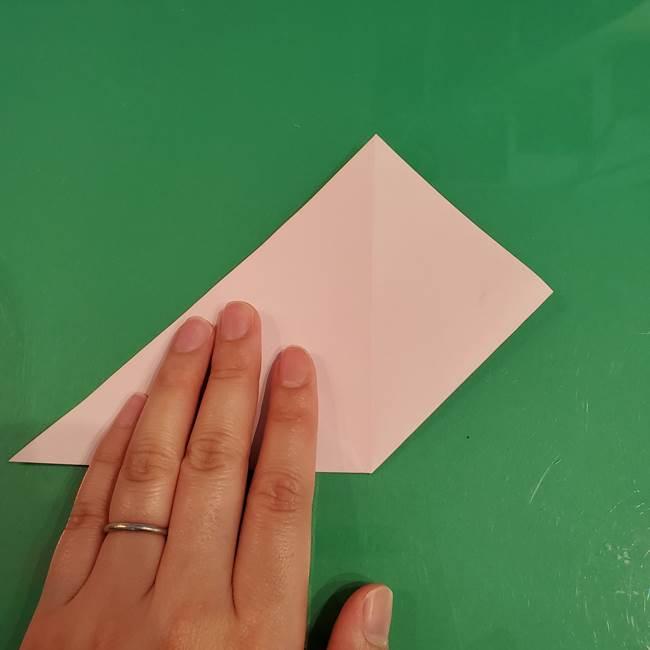うさぎの折り紙 簡単で幼稚園年長からOK!折り方作り方①顔(7)