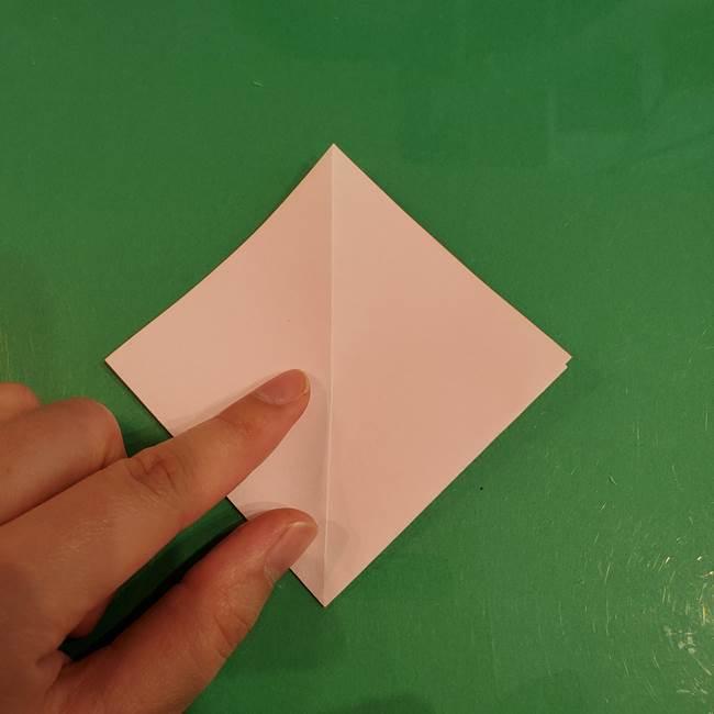 うさぎの折り紙 簡単で幼稚園年長からOK!折り方作り方①顔(8)
