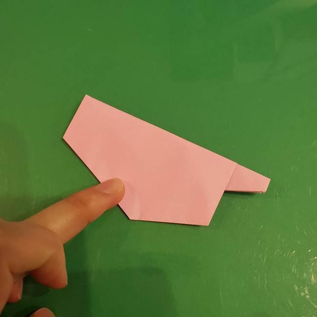 うさぎの折り紙 簡単で幼稚園年長からOK!折り方作り方②からだ(11)