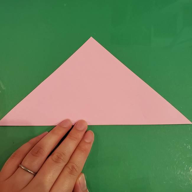 うさぎの折り紙 簡単で幼稚園年長からOK!折り方作り方②からだ(2)