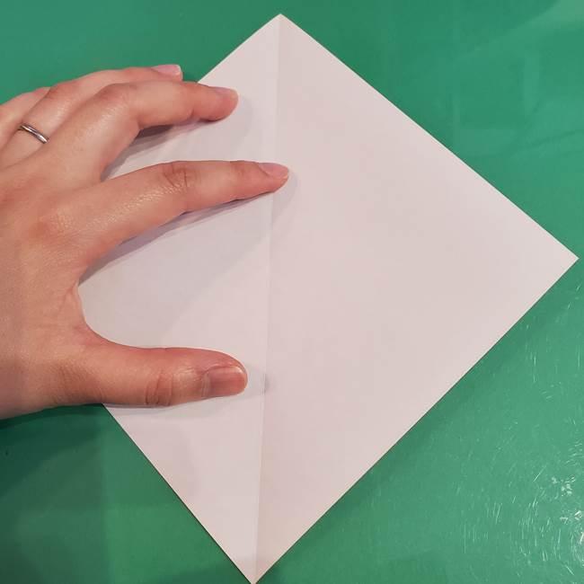 うさぎの折り紙 簡単で幼稚園年長からOK!折り方作り方②からだ(3)