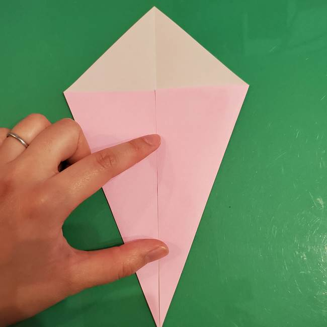 うさぎの折り紙 簡単で幼稚園年長からOK!折り方作り方②からだ(4)