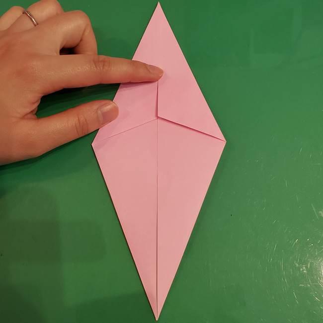 うさぎの折り紙 簡単で幼稚園年長からOK!折り方作り方②からだ(5)