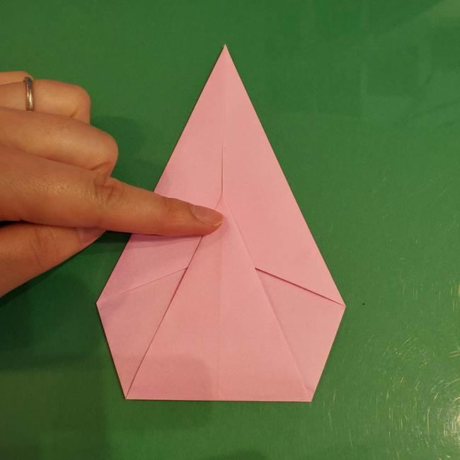 うさぎの折り紙 簡単で幼稚園年長からOK!折り方作り方②からだ(6)