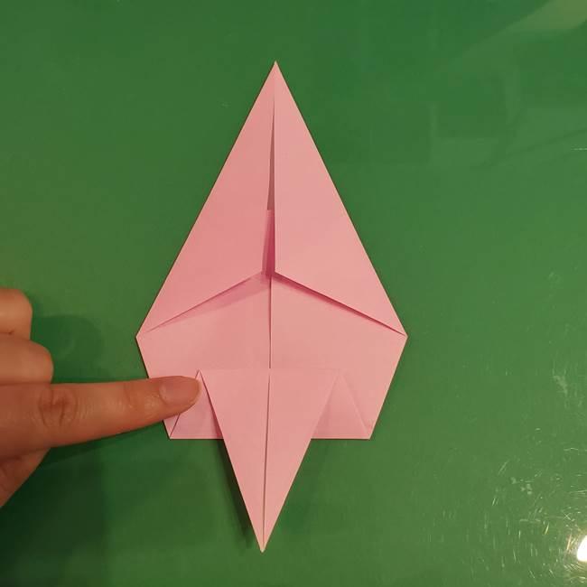 うさぎの折り紙 簡単で幼稚園年長からOK!折り方作り方②からだ(7)