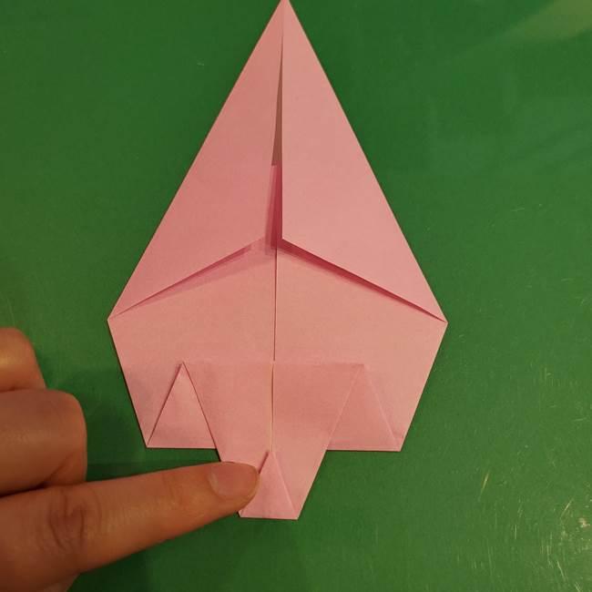 うさぎの折り紙 簡単で幼稚園年長からOK!折り方作り方②からだ(8)