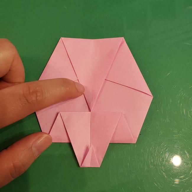 うさぎの折り紙 簡単で幼稚園年長からOK!折り方作り方②からだ(9)