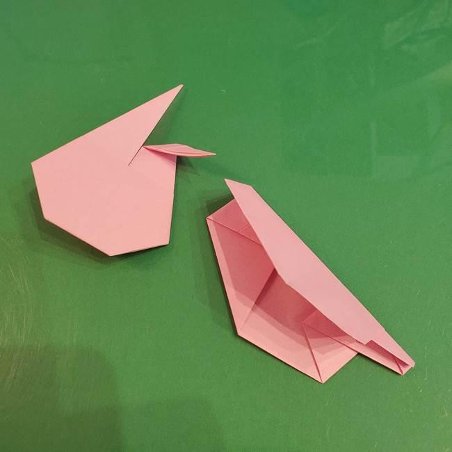 うさぎの折り紙 簡単で幼稚園年長からOK!折り方作り方③完成(1)