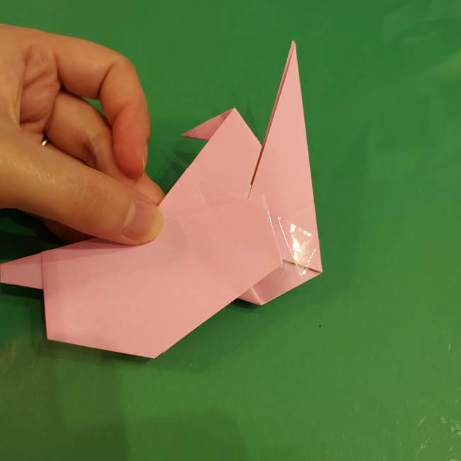 うさぎの折り紙 簡単で幼稚園年長からOK!折り方作り方③完成(3)